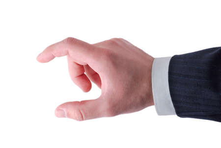 businessmens fingers showing size photo