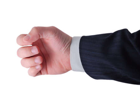 businessman hand ready to hold anything inside Stock Photo - 4139074