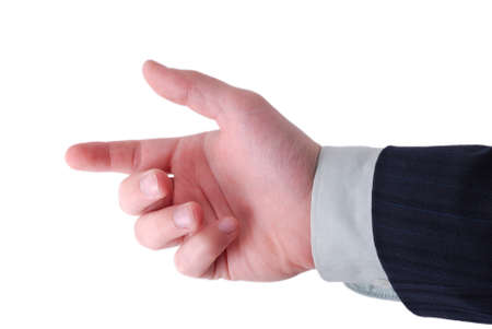 businessman hand ready to hold anything inside Stock Photo - 4138879
