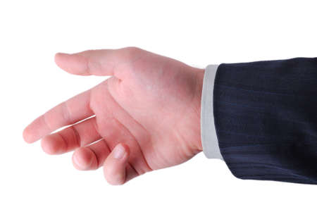 businessman hand ready to hold anything inside Stock Photo - 4139085
