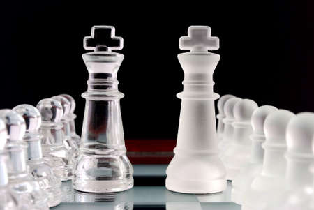 mirro: Chess. Pawns and kings.