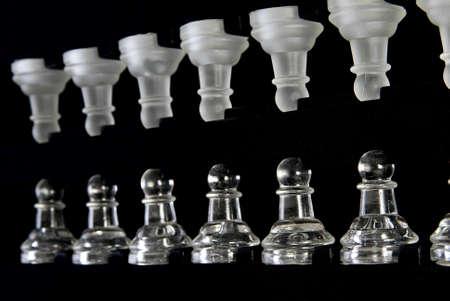 Pawns in chess box Stock Photo - 4138882