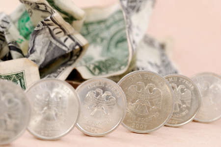 usd: USD banknotes under coins protection