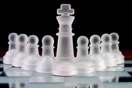 jerarquia: equipo de ajedrez Foto de archivo