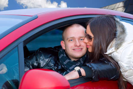 couple in a car photo