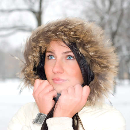 young winter woman photo