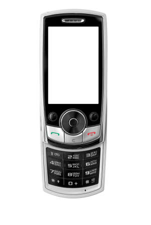 modern mobile phone, isolated with path. photo