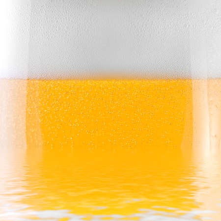 close-up shot of a glass of beer photo