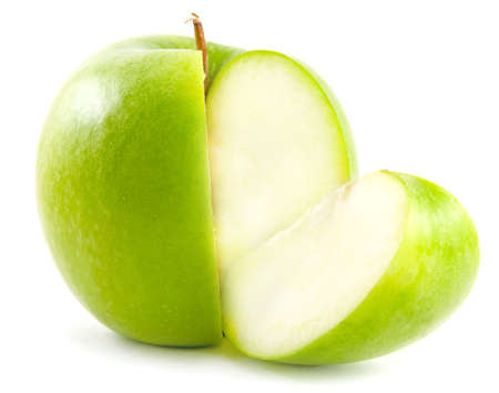 apple and its quarter slice Stock Photo - 4761189