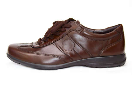 filthy: brown shoes Stock Photo