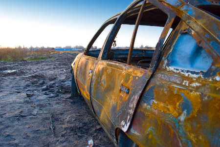 burnt car Stock Photo - 4761021