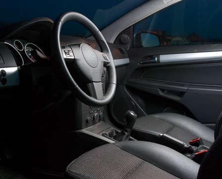 gearstick: inside of a modern car Stock Photo