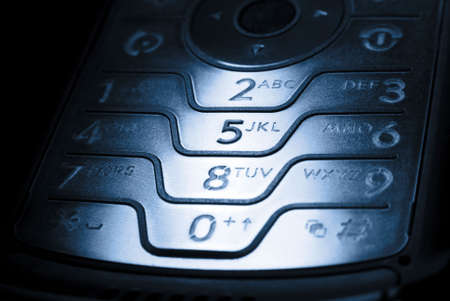 dial pad: mobile phone in dark