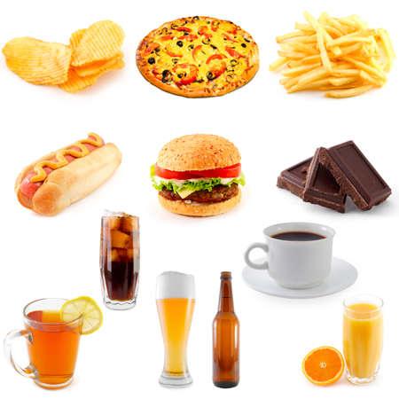 set of fast food  photo