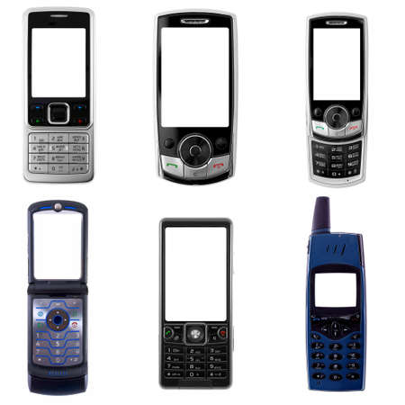 retro phone: set of cell phones