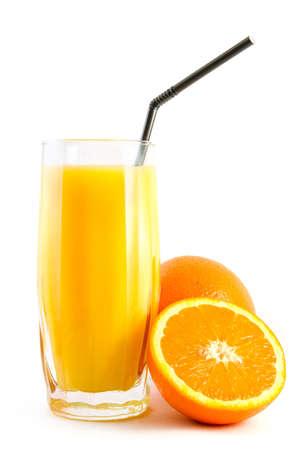 Jus d'orange et les oranges Banque d'images - 5572645