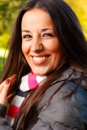 laughing beautiful woman photo