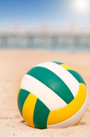 ball on the beach photo