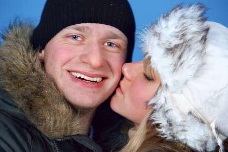 winter couple Stock Photo - 6396271