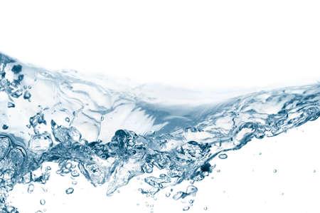 coule: gros plan des vagues isol� sur fond blanc Banque d'images