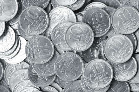 heap of silver coins photo