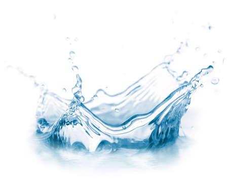agua: agua bienvenida aislado en blanco