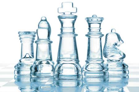 �checs: �checs de verre transparent isol�s sur fond blanc