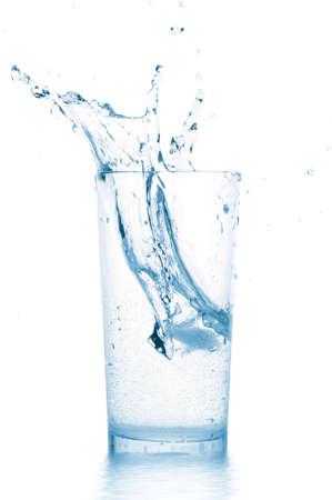 splash in water glass Stock Photo - 6971859