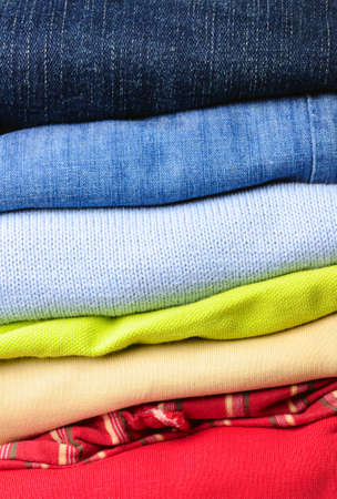 stack of multicolored men's clothing Stock Photo - 6971930