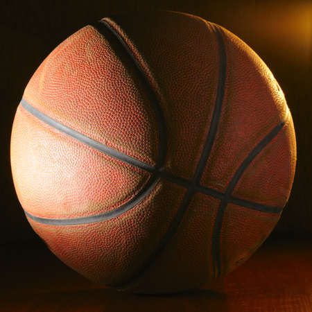 gymnasium: basketball ball Stock Photo