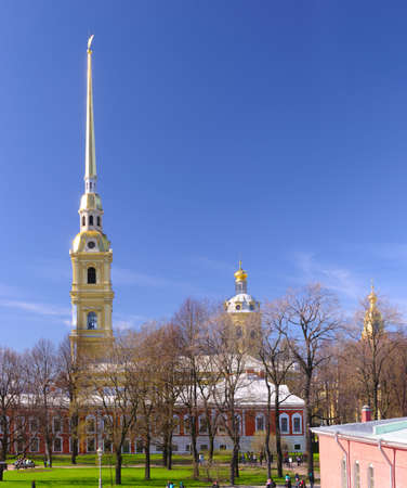 Peter and Paul Cathedral at sunny weather in Saint-Petersburg, Russia Stock Photo - 6971954