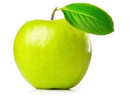 granny smith apple: fresh green apple isolated on white