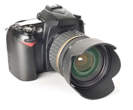 professional digital photo camera isolated on white Stock Photo - 7320232