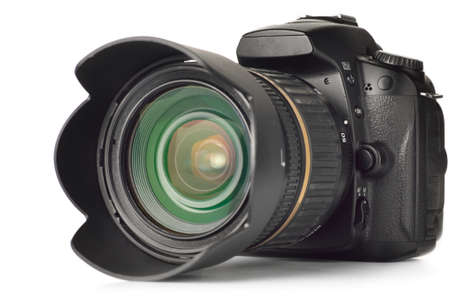professional digital photo camera isolated on white Stock Photo - 7320222