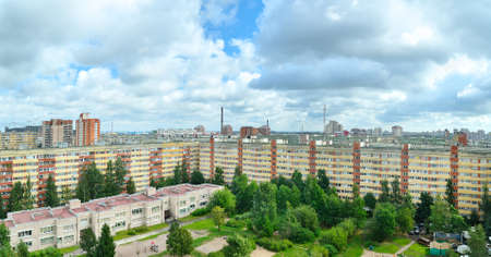 panoramic view of a urban architecture in Russia photo