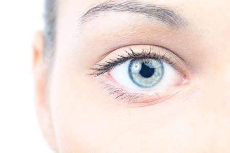 eye closeup: closeup view of a beautiful female eye