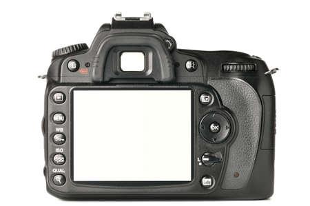 back screen: back of a modern DSLR camera