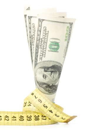 metre: dollars with yellow metre