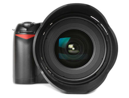 professional digital camera with huge wide angle lens Stock Photo - 8705290