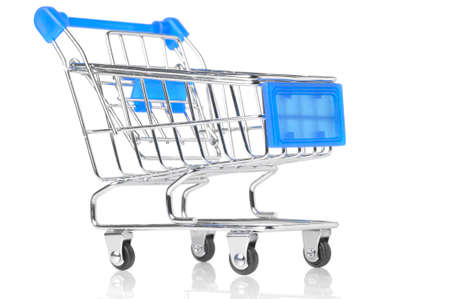 closeup of a shopping cart Stock Photo - 8705217