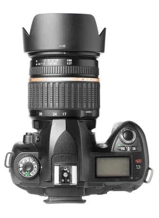 camera lens: professionele digitale camera geïsoleerd op wit