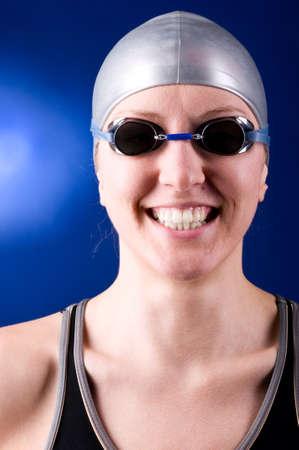 happy swimmer photo