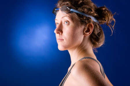 woman swimmer photo