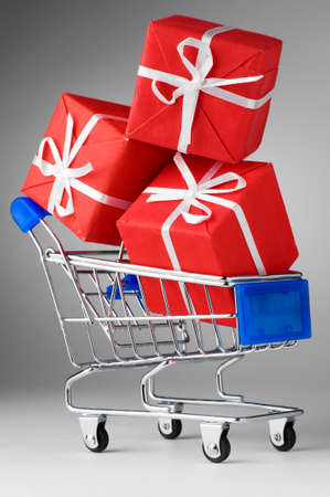 cart with gifts photo