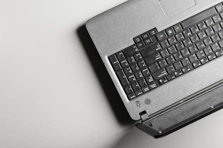 modern black laptop photo