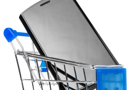 phone in shopping cart Stock Photo - 8942588