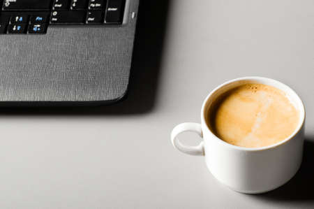 laptop with cup of coffee Stock Photo - 8942635