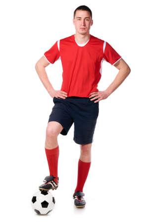 jugadores de futbol: futbolista. Foto de archivo