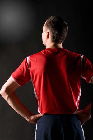 アスリート: 暗闇の中でのサッカーの選手