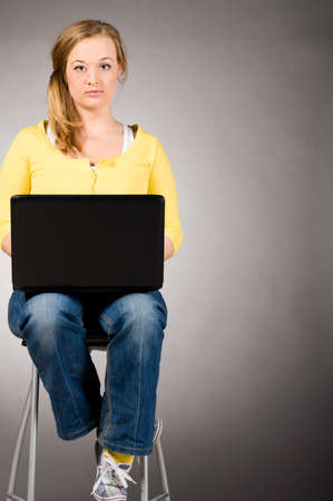 office woman with laptop Stock Photo - 9056730